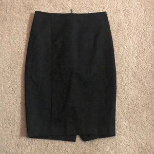 Jacquard Print Pencil Skirt